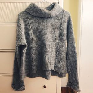 Grey Turtle neck Free People Sweater